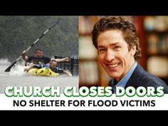 Televangelist Joel Osteen Closes Off Church To Hurricane Victims - YouTube