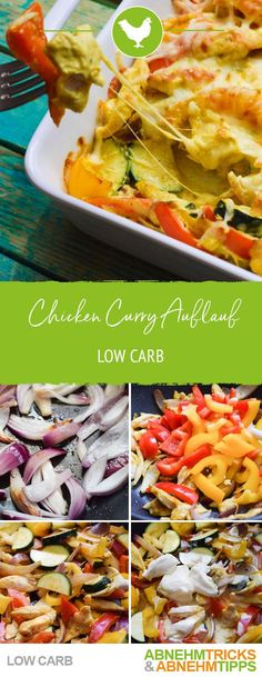 - Herzhafter Low Carb Chicken Curry Auflauf - List of the best food recipe Crock Pot Recipes, Low Carb Chicken Recipes, Low Carb Dinner Recipes, Healthy Recipes, Cooking Recipes, Diet Recipes, Chicken Meals, Pesto Chicken, Broccoli Recipes