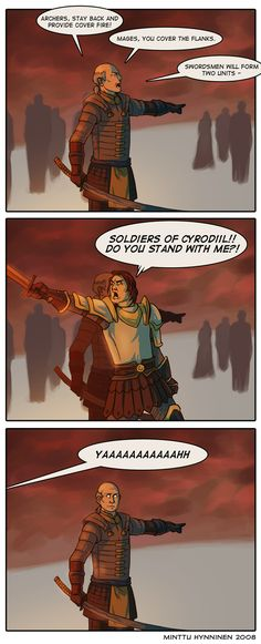 Oblivion: Battle for Bruma by ~TheMinttu on deviantART // Martin stahp I think Jauffre knows more about tactics than you do... // Martin is Leroy Jenkins