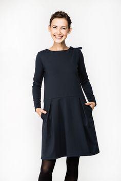 LeMuse Sofia BOW deep blue dress | LeMuse