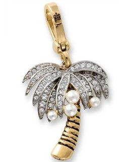 Juicy Couture Retired Pave Pearl Palm Tree Charm: Jewelry