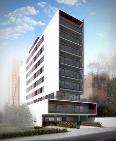Hillside Apartments, Building Design, Building Ideas, Unique Architecture, Modern House Plans, Facade, Multi Story Building, Buildings, Lego