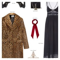 """""""Untitled #3920"""" by amberelb ❤ liked on Polyvore featuring Yves Saint Laurent, RED Valentino, MaxMara, Henri Bendel and Fleur of England"""