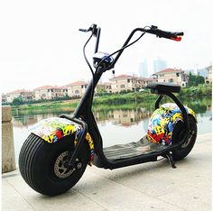 Citycoco Electric Scooter Adult Fat Tire Inch Lithium Motorcycle E-Bike Adult Electric Scooter Scooter Design, Bike Design, Two Wheel Scooter, Scooter Scooter, Best Nike Running Shoes, Electric House, Electric Scooter, Electric Motor, Mini Bike