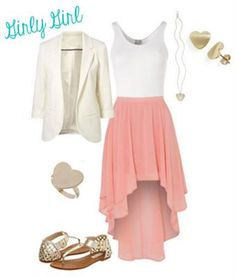 Rachels style,  the blazer and high-low skirt! I sooooo want