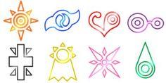 Symbol Tattoos, Digimon Tattoo, Digimon Symbols, Digimon Emblemas, Digimon Crests, Nerdery Anime, Random Stuff