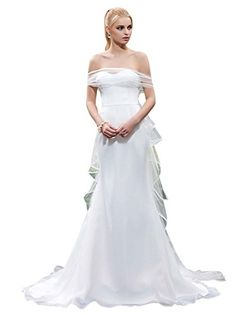 Bridess Sweetheart Floor Length Mermaid Wedding Dress White 2 ** Learn more by visiting the image link.