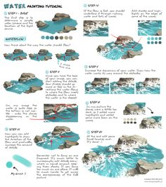 """art-res: """" dzun: """"""""Water painting tutorial"""" by Dżun """" An excellent tutorial on water by the talented @dzun in honor of Tilikum. Captivity is terrible for these gentle, highly intelligent animals. """""""