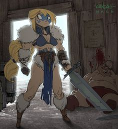 The Blonde Barbarian by StarvingStudents on DeviantArt