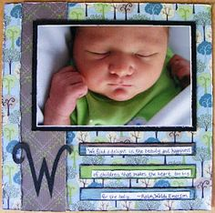 Baby Scrapbook Layouts: Journaling to remember your baby's special moments