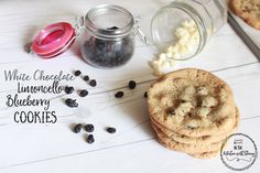 White Chocolate Limoncello Blueberry Cookies - In the Kitchen with Stacey