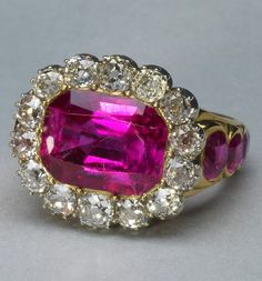 Consort's Ring of Queen Adelaide, consort of William IV, United Kingdom (1831; rubies, diamonds, gold). Royal Collection © Her Majesty Queen Elizabeth II.
