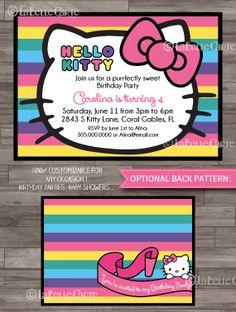 Hello Kitty Baby Shower Invitations DIGITAL PRINTABLE