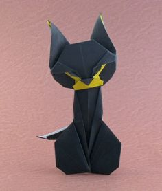 Origami Cats and the books showing you how to make them. Learn more on Gilad's Origami Page. Origami Design, Diy Origami, Origami Paper Folding, Origami And Quilling, Origami Butterfly, Paper Crafts Origami, Origami Halloween, Origami Instructions, Origami Tutorial
