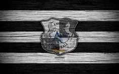 Download wallpapers Amiens, 4k, France, Liga 1, wooden texture, Amiens FC, Ligue 1, soccer, football club, FC Amiens