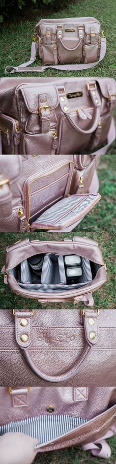 The House of Flynn Evermore camera bag in Blush Rose Gold.  Bag by www.thehouseoffly... Photo by www.bitsofflair.com