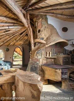 Bogdan Pękalski is an experienced self-builder. For years he has designed and created lots of gardens and home interiors for people who appreciated his style. About six years ago he bought a piece of land in Krzywcza, Poland and decided to build his dream house on a hill. More pictures at www.naturalhomes.org/polish-hobbit-house.htm