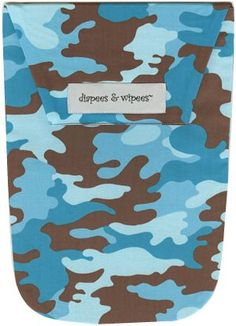 Diapees and Wipees Accessory Bag - Aqua Camo.