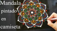 Como pintar mandalas con acrílicos #7 - Camiseta mandala