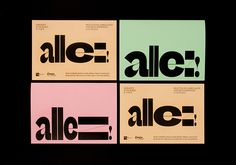 Ara Estudio and Todojunto Graphics show how a typeface can be the only visual component you need Co Design, Print Design, Graphic Design, Design Ideas, Creative Studio, Typographic Logo, Its Nice That, Event Organization, Design Museum