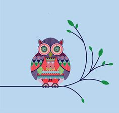geometric simple designs motifs shapes patterns owl gorgeous space shape designer animals drawing abstract piece graphic noupe uses patterned popular
