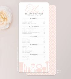 Grace Makeup Artist or Cosmetologist Services Menu / Salon