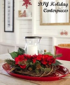 I love finding new holiday centerpieces for the holiday dinner table. Here are some ideas for some that you can make yourself. #diy #holidaydiy