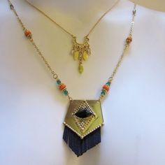 Eye Gold Layered Necklace Gold Tone Black Jeweled Eye Costume  #Unbranded #Layered