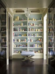 I love when the hallway isn't wasted space and has things like closets and shelves in it, steven gambrel