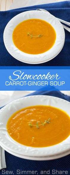 #Slowcooker Carrot-Ginger Soup + What I'm Eating on #Whole30   YouShouldCraft.com #paleo