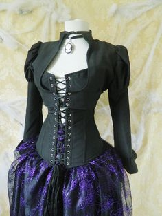 Steampunk Victorian black