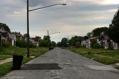 Abandoned in Detroit - entire neighborhoods abandoned, with only a few survivors remaining, their homes now virtually worthless...