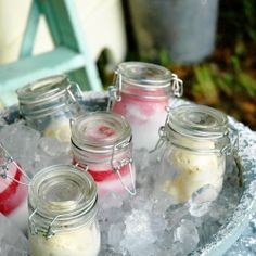 Next summer party serve the ice cream in mason jars on ice