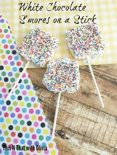 White Chocolate S'mores on a Stick on Having Fun Saving and Cooking