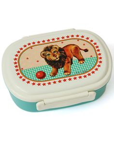 A new lunchbox will come in handy for school. I like the retro style design on this one.