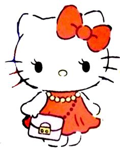 Sanrio Characters, Fictional Characters, Hello Kitty Cake, Cat Dresses, Hello Kitty Wallpaper, Cat Stickers, Kitty Cats, Sassy, Cartoons