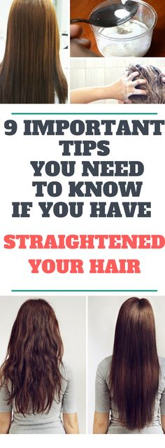 9 Important Tips You Need To Know, If You Have Straightened Your Hair.!! Need to know!