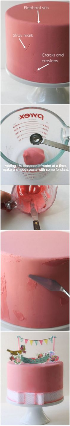 How to fix problematic fondant.... Also, some useful tips by Nicholas Lodge can be found in the comments section of this post.                                                                                                                                                     More