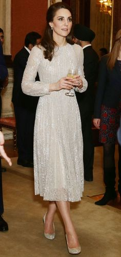 Catherine, Duchess of Cambridge in Erdem paired with Oscar de la Renta pumps attends the India Year of Culture 2017 launch. #bestdressed