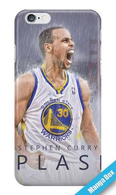 Manga Box - Custom Curry Golden State Warriors Basketball Polycarbonate Hard Case Back Cover For iPhone 6/6s Case 4.7 inch (3D CASE)