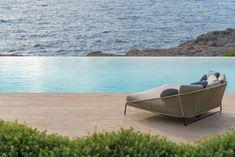 """""""The Cap Adriano experience"""" by Minotti Interior Exterior, Home Interior Design, Outdoor Sofa, Outdoor Furniture, Outdoor Decor, Villas, Porches, Elle Decor, Sun Lounger"""