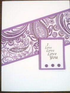 Love Card, OWH, CAS, My original Word Art