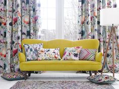 The Iridescence Range by Voyage. Available at Rodgers of York. Soft Furnishings, Love Seat, House Design, Couch, Bedroom, Furniture, Home Decor, Range, Interiors