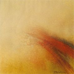 "Bobbette Rose - ""Winnowing"", encaustic monotype, image is 7""x 7"" framed to 11""x 11"""