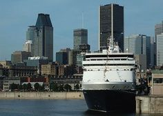 MS Maasdam berthed in Montreal, Quebec