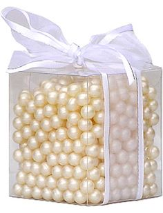 Over 500 Pearl Bath Beads Filled With Gardenia Bath Oil...I Think It
