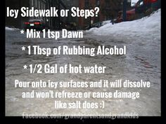 Sidewalk de icer no salt cleanin er where 2 pinterest de deicer solutioingenieria Gallery