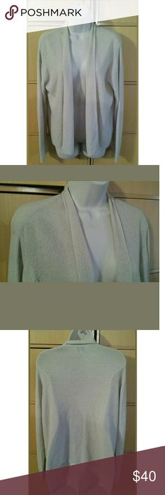 Eileen Fisher Open-Front Wool Draped Cardigan * * *Good pre-owned condition! * * *   Women's  Eileen Fisher  Open Front Draped Cardigan  Size: Medium  Long sleeve  100% Wool  Color: Beige/Oatmeal/Ivory  Smoke and pet-free home Eileen Fisher Sweaters Cardigans