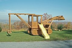 Pressure Treated Outdoor Playground Swingsets • Ship • Firetruck • Trucks