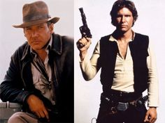 Two of the best roles EVER...played by one amazing actor. It was a sad day for me when I realized that Harrison Ford was the same age as my dad.